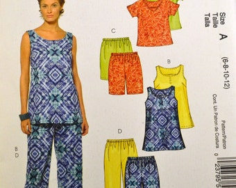Tops Shorts, and skirt Sewing Pattern McCall's 5357  Misses' Summer Separates Bust 29-34 inches  UNCUT Complete