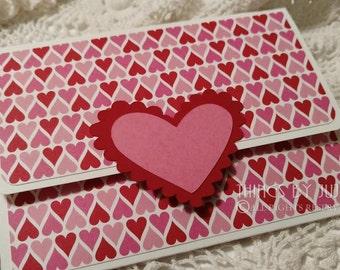 Valentines Day Card Gift Card Holder Envelope Handmade Cards Valentine Card For Her Handmade Envelope Love Gift Card Money Holder