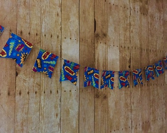Superhero Banner Wow Pow Super