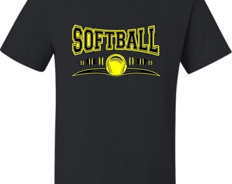 Adult Softball Cool Design Fastpitch T-Shirt