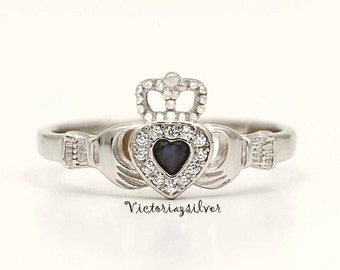 Sterling Silver Claddagh Ring,Irish Claddagh Ring,Sterling Silver Jewelry