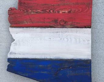 Medium Arizona Pallet sign | Red White Blue Arizona Sign | Arizona | Wood Arizona Sign | Rustic Arizona Sign | Pallet Wood Arizona Sign