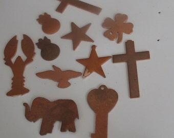 SALE Copper Shape Assortment 11 Pieces