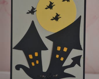 Halloween Haunted House card