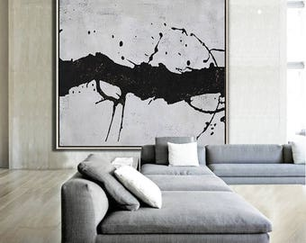 Abstract painting Large Canvas Art, Minimalist Abstract Art, hand painted acrylic painting on canvas - Ethan Hill Art No.H61S