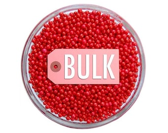 Red Non-Pareils BULK (1lb) - vibrant tiny red sprinkles for decorating cupcakes, cakes, cakepops, cookies, and ice cream