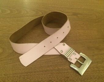 Vintage 80's Style Leather Belt