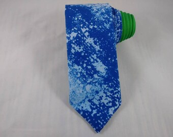 Blue Ocean Spray Handmade Necktie