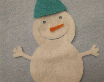 Snowman felt ornament - felt board, Christmas activity for toddlers, Kids Christmas gift, felt activity