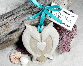 DOLPHIN HEART Made with Sand Ornament FAVORS