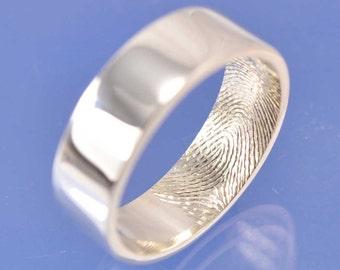 Fingerprint Ring. Palladium