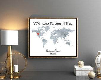 Wedding guestbook world map print with names date grey wedding map world map wedding guest book wedding map wedding gift wedding guestbook destination wedding travel map guest book digital gumiabroncs Images