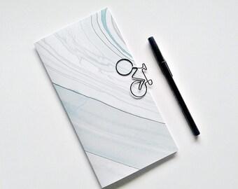 PALE BLUE Marble Traveler's Notebook Insert, Bullet Journal Insert, Gratitude Insert, Midori Insert, Personal Log, Midori Accessories - N216