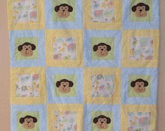 Monkey Baby Quilt