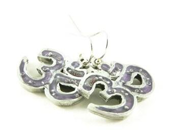 Orgone Energy Om Symbol Dangle Earrings - Choose Your Stone/Color - Sterling Silver - Orgone Energy Jewelry - Artisan Jewelry - Zen Jewelry