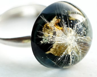 Resin Jewelry, Resin Ring,Botanikal Jewelry, Florar Jewelry, Clear Resin Ring, Fashion Ring.