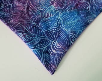 BOHO Purple Leaves Over the Collar Dog Bandana that Slips onto their Existing Collar. Dog Mom Gift. Dog Dad Gift