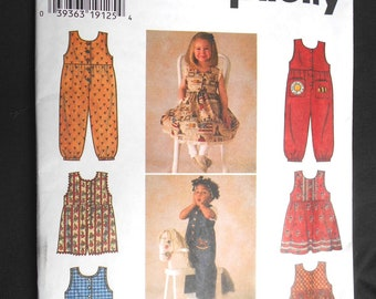 Simplicity 7213 Decorate Your Own Toddlers' Jumper or Sundress and Romper Size BB (2,3,4)
