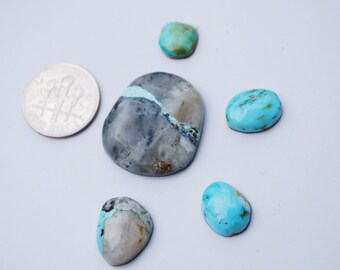 natural blue moon turquoise cabochons