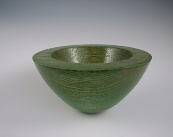 """Wooden bowl, Ash, dyed with gloss lacquer finish, 3.25"""" tall x 6"""" diameter"""