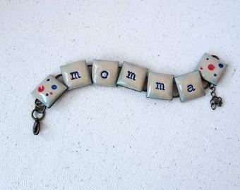 Momma, chain bracelet, FREE SHIPPING
