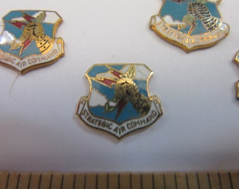 6 enamel gp on brass STRATEGIC AIR COMMAND  medals, #6, purchased from a defunct cufflink and tie clip manufacturer ,