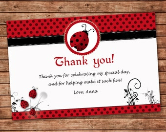 Twins Baby Shower Thank You Card Girl Boy Twins Thank You Note