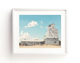 "large industrial wall art, grain elevator photography, grain elevator art, large wall art, large art, large prints - ""Teslow Grain Elevator"""