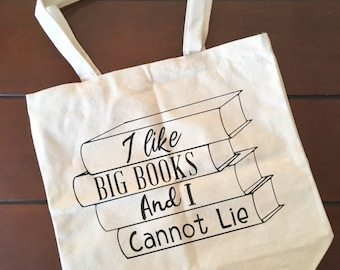 Library Canvas Tote, Big Books, Cannot Lie, Teacher tote, Librarian Tote, Book Tote