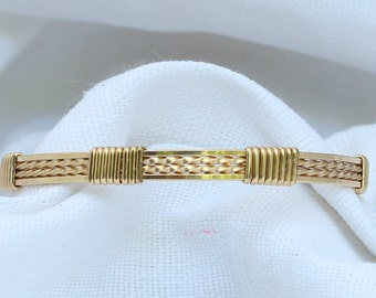 Wire Wrapped Thin Gold Bangle