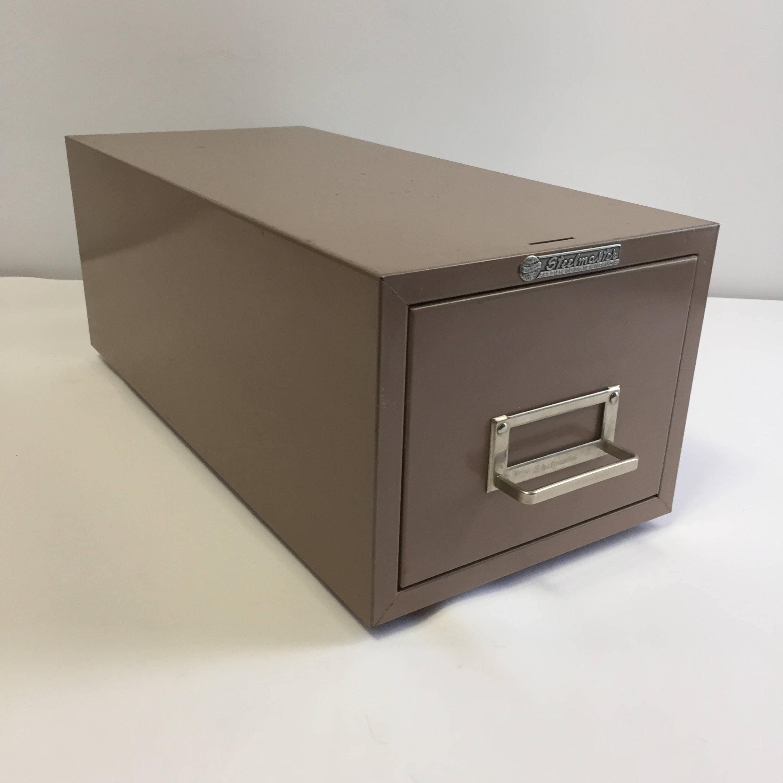 Vintage Steelmaster Industrial File Drawer Cabinet Dark Tan