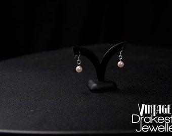 Vintage inspired Swarovski pearl earrings in white