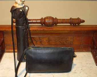 Etsy BDay Sale Coach Basic Bag In Black Leather - Made In NYC- Substitute Strap