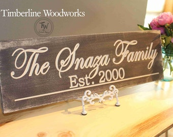 Family Name Sign Established Sign Plaque Last Name Sign Wall Sign Carved Engraved Personalized Family Name