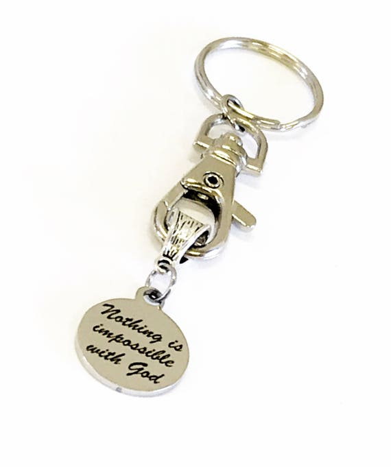 Christian Encouragement Gifts, Nothing Is Impossible With God Keychain, Keychain Gifts, Christian Motivation Gifts, Encouragement Gifts