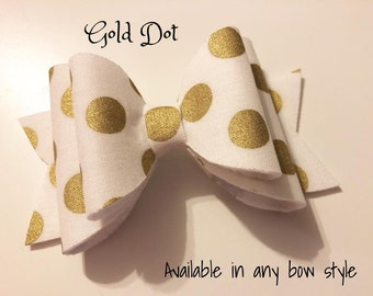 Gold Dot Little Mini Bow