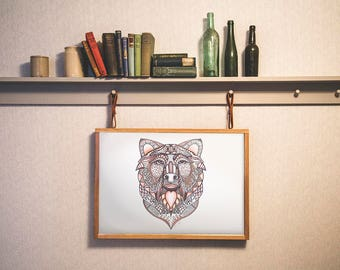 Bear illlustration with abstract details - available in different size