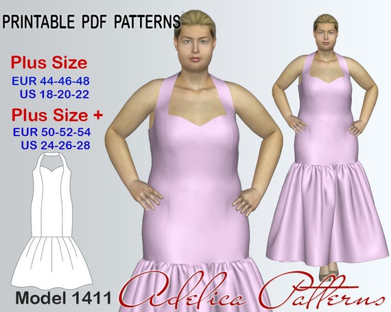 Elegant Mermaid Wedding Dress Sewing Pattern PDF Evening
