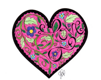 Heart #2 Coloring Page!