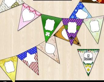Seasonal & Holiday Pennant/Bunt Banner