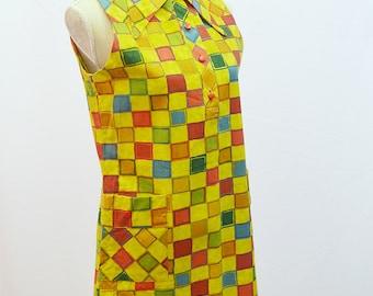 1970s sleeveless mini dress