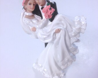 Wedding Cake Topper Groom Carrying Bride