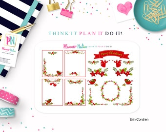 Planner Stickers Mini Kit Deck the Halls  Available for Erin Condren Life Planner Vertical ECLP MAMBI Happy Planner Create 365