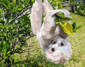 Sloth Plush with Velcro Claws