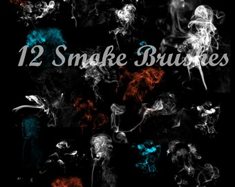 Real Smoke Brushes for Photoshop and Photoshop Elements.  Use for photography, scrapbooking, etc. Perfect for Halloween projects too!