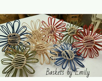 Pattern for a Woven Basket Reed Decorative Flower