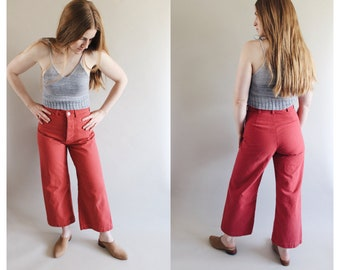 Persephone Pants in Soft Red - Made to order