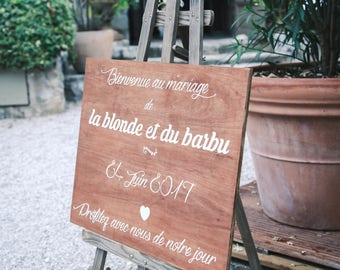 Welcome Panel customizable wedding welcome sign, sign wooden Wedding sign, Welcome