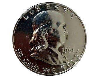 1951 Proof Franklin Half Dollar - Gem Proof - PF / PR