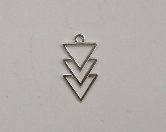 Charm 925 sterling silver triangles